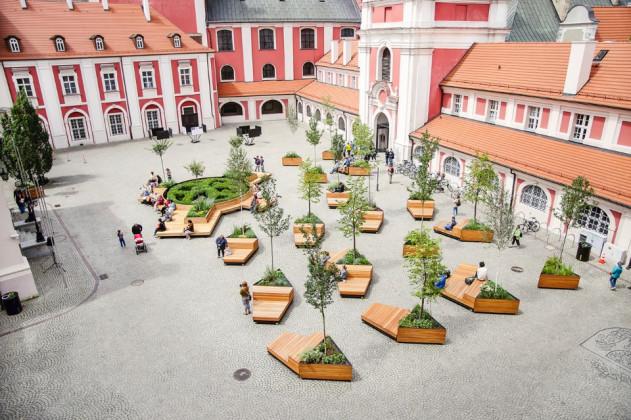 POZNAN CITY HALL COURTYARD, ATELIER STARZAK STREBICKI, Poznań, Polonya