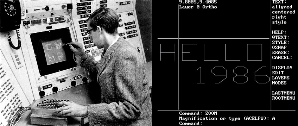 void main, Ivan Sutherland, Autocad, Sketchpad, computational design,