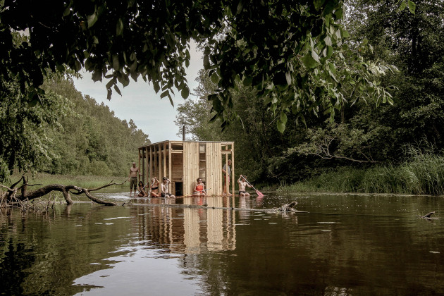 vala sauna, flooded summer school, estonia, xxi architecture and design magazine