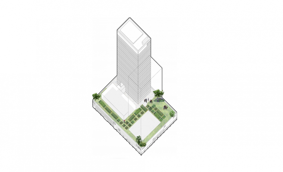 [Lab North](http://labnorth.be/en){blank} is launching a call for applications for a temporary occupancy on the roof of the base of the WTC I&II.