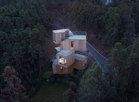 THE QIYUN MOUNTAIN TREE HOUSE, Bengo Studio, Xiang Nan, Yao Zhong,  Xiuning, Anhui, China, Chen Hao, Bengo Studio