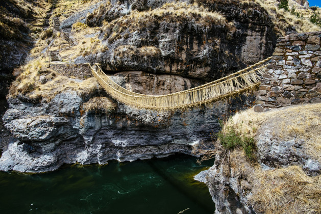 Q'eswachaka bridge, rope bridge, peru, Hülya Ertaş, Participatory Architecture