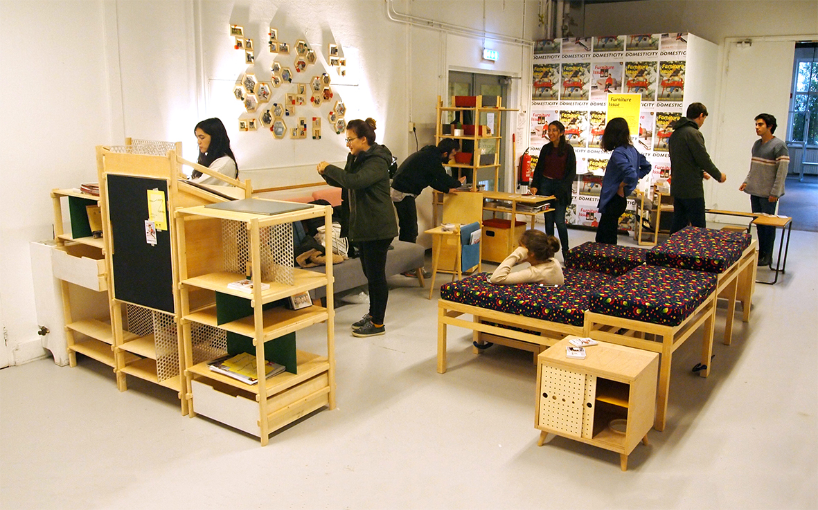 The project is based on a furniture design studio which was opened at  Istanbul Bilgi University in the spring semester of the 2015 16 academic  year and. The New Domesticity  Furniture Issue  on Display at Dutch Design